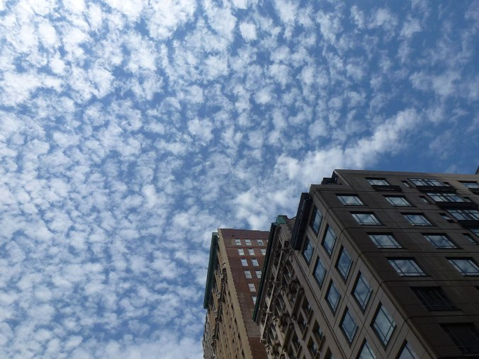 View of the sky from the corner of Madison Ave and 26th St on May 2