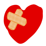 Heart with Bandaids
